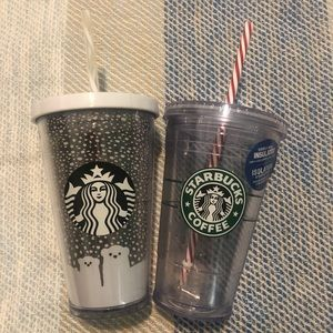 NWT Starbucks Holiday limited edition tumblers